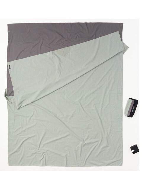 Cocoon TravelSheet - Drap de sac de couchage - Doublesize Cotton gris